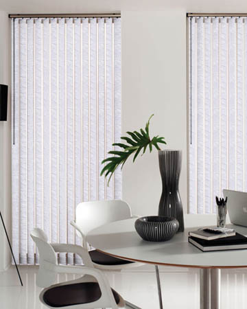Chatsworth White Vertical Blinds