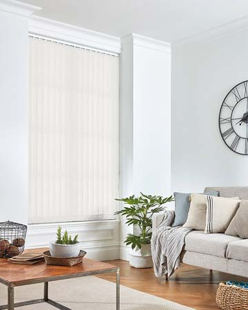 Eclipse Banlight Duo FR Optic White Vertical Blinds