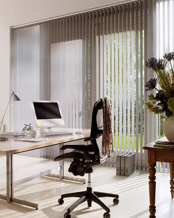 Eclipse Banlight Duo FR Silver Vertical Blinds