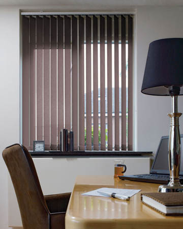 Eclipse Banlight Duo FR Taupe Vertical Blinds