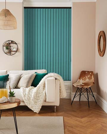 Eclipse Banlight Duo FR Turquoise Vertical Blinds