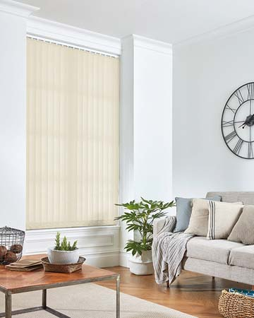 Eclipse Banlight Duo FR Vanilla Vertical Blinds