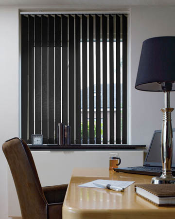 Eclipse Palette Black Vertical Blinds