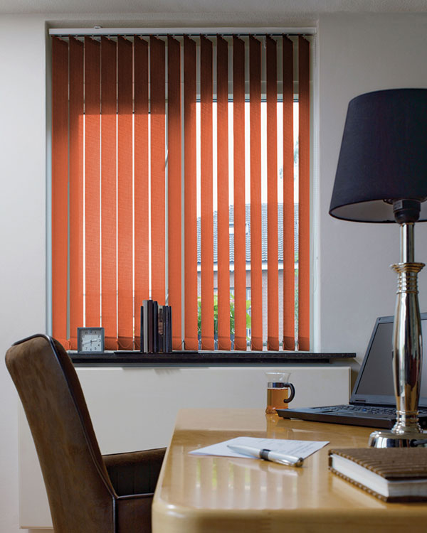 Eclipse Palette Burnt Orange Vertical Blinds