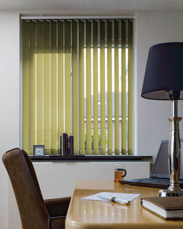 Eclipse Palette Lime Green Vertical Blinds