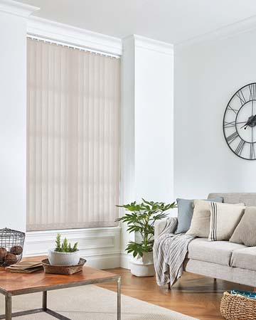 Eclipse Palette Stone Grey Vertical Blinds