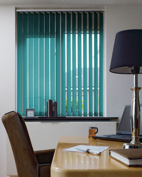 Eclipse Palette Teal Vertical Blinds