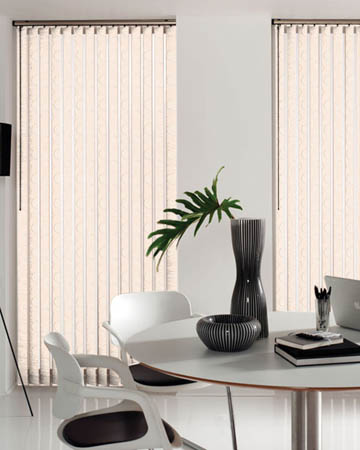 Louvolite Aura Oyster Vertical Blinds