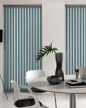 Louvolite Basix Pale Blue Vertical Blinds