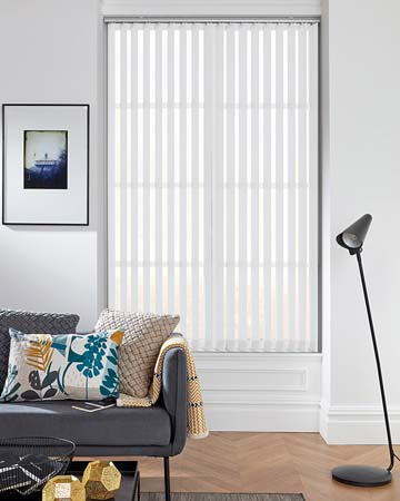Louvolite Carnival Blackout China White Vertical Blinds