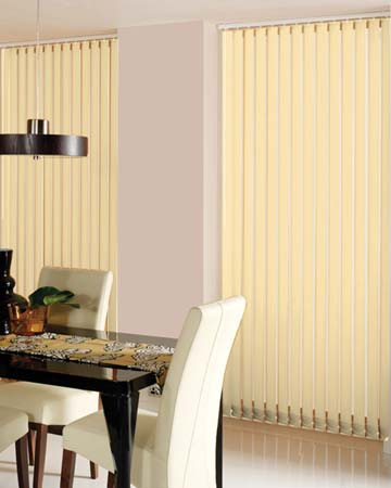 Louvolite Carnival Blackout Ivory Vertical Blinds