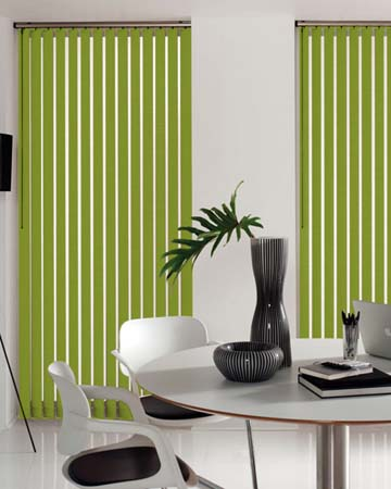Louvolite Carnival Blackout Kiwi Vertical Blinds