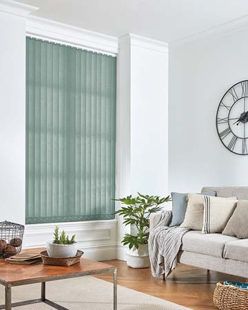 Louvolite Carnival Blackout Misty Blue Vertical Blinds