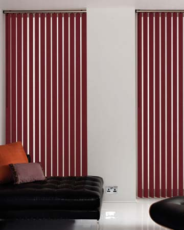 Louvolite Carnival Blackout Pomegrantate Vertical Blinds