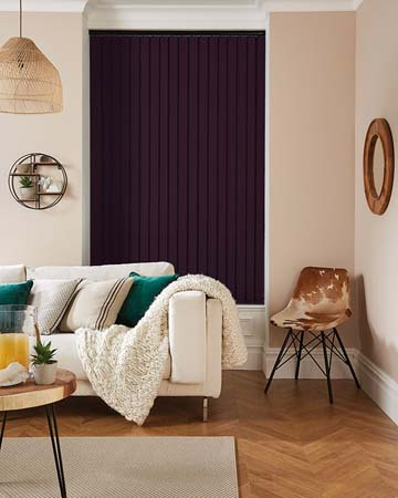 Louvolite Carnival Blackout Purple Vertical Blinds