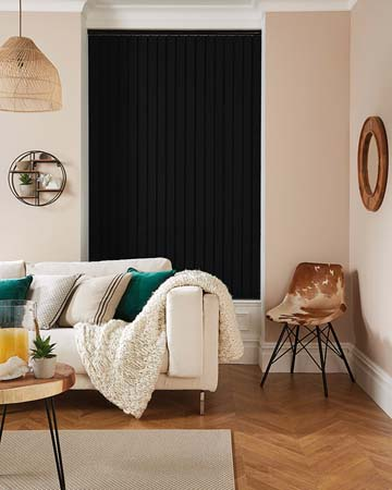 Louvolite Carnival Blackout Raven Vertical Blinds