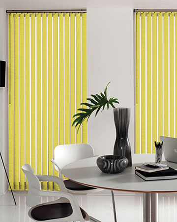 Louvolite Carnival Chartreuse Vertical Blinds