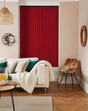 Louvolite Carnival Chelsea Red Vertical Blinds