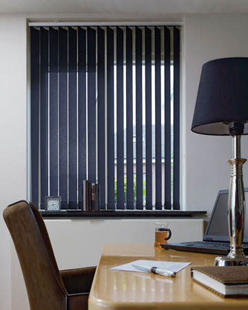 Louvolite Carnival Navy Vertical Blinds