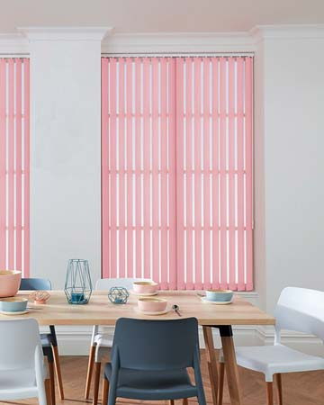 Pink Vertical Blinds - Blinds UK