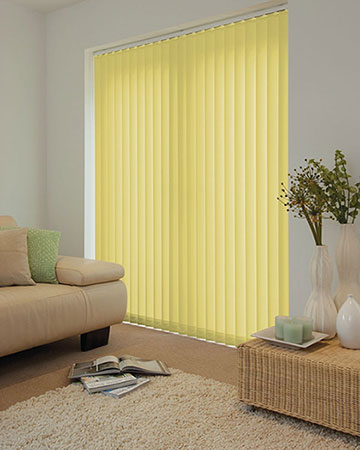 Louvolite Carnival Spring Green Vertical Blinds