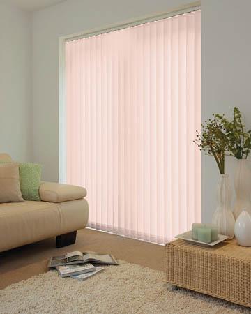 Louvolite Dapple SPC Plus Blush Vertical Blinds