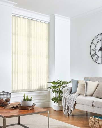 Louvolite Exlite Cream Vertical Blinds
