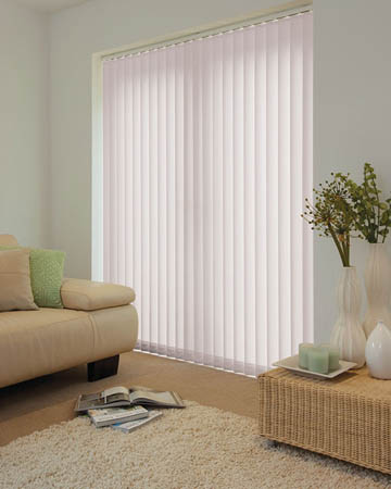 Louvolite Exlite Light Grey Vertical Blinds