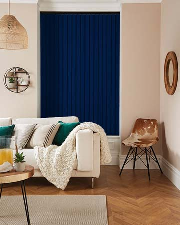 Louvolite Exlite Navy Vertical Blinds