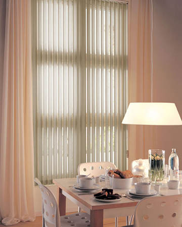 Louvolite Exlite Putty Vertical Blinds