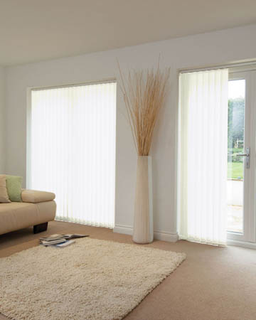 Louvolite Exlite Snow Vertical Blinds