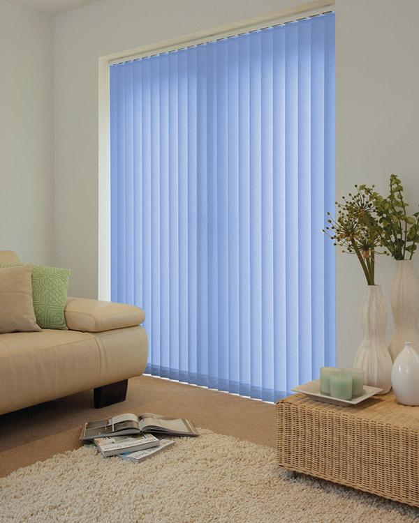 Louvolite Guardian Pale Blue Vertical Blinds