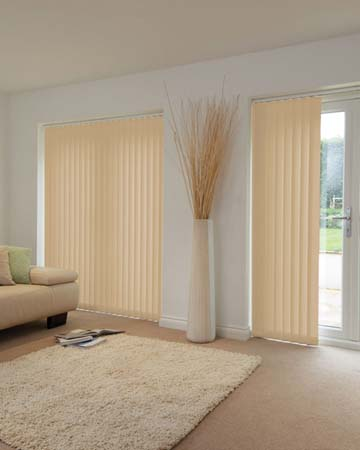 Louvolite Mineral Pale Gold Vertical Blinds