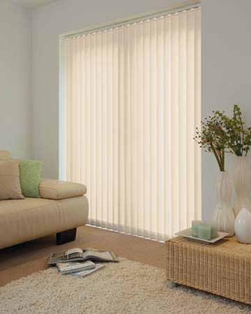 Louvolite Mineral Pearl Vertical Blinds