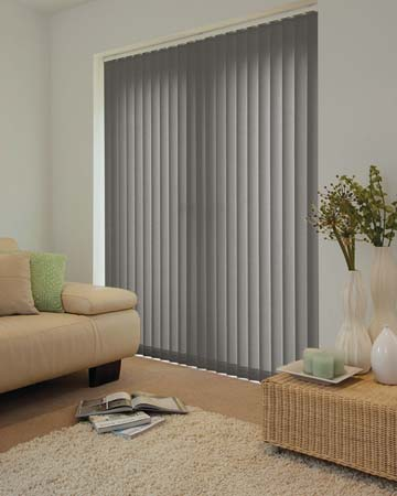 Louvolite Mineral Pewter Vertical Blinds
