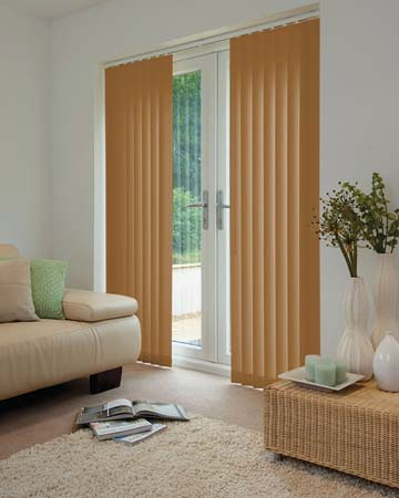 Louvolite Oslo Maple Vertical Blinds