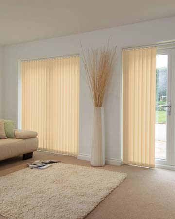 Louvolite Tribune Calico Vertical Blinds