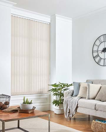 Louvolite Tribune White Vertical Blinds