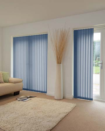 Louvolite Voile Cobalt Blue Vertical Blinds