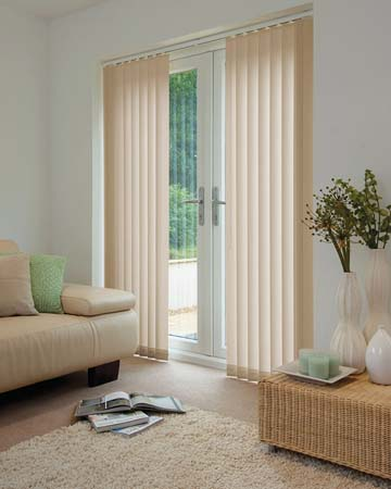 Louvolite Voile Papaya Vertical Blinds