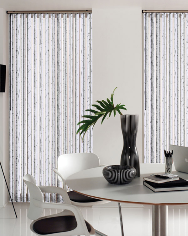 Louvolite Woodland Silver Birch Vertical Blinds