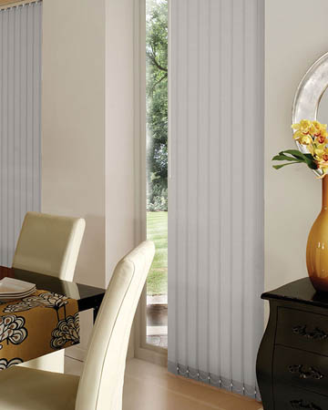 Wipeable Grey Vertical Blinds