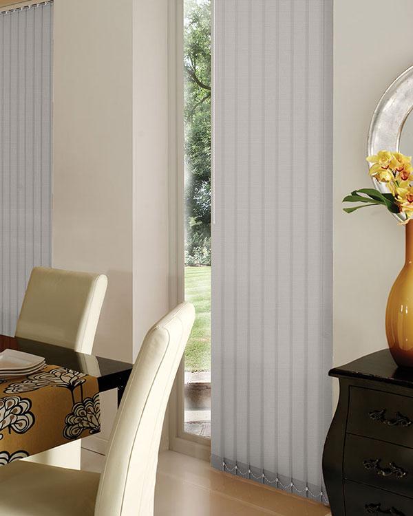 wipeable grey vertical blinds moisture resistant. Black Bedroom Furniture Sets. Home Design Ideas