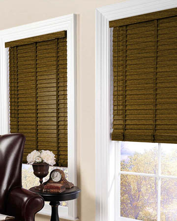 Distressed Bibolo Wooden Blinds