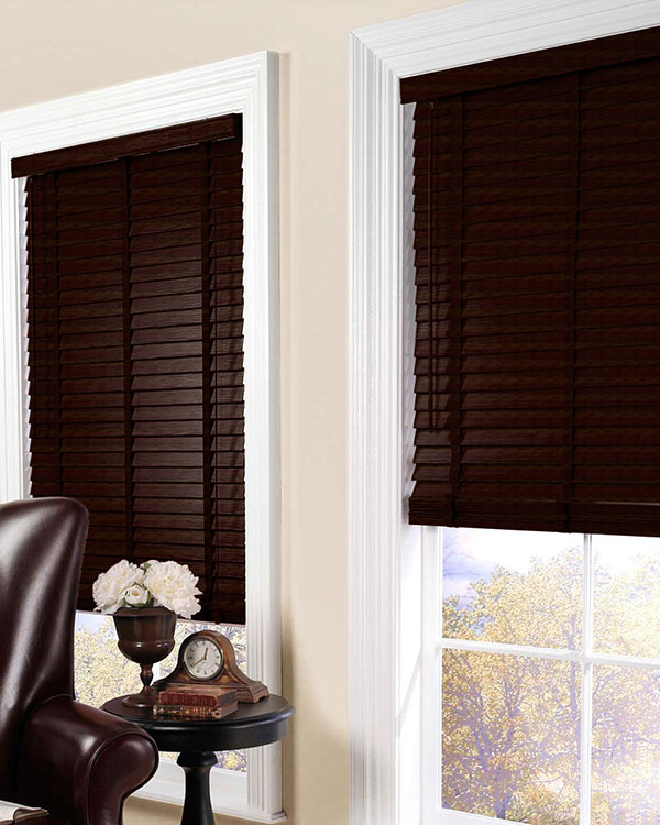 Exotic Walnut Wooden Blinds