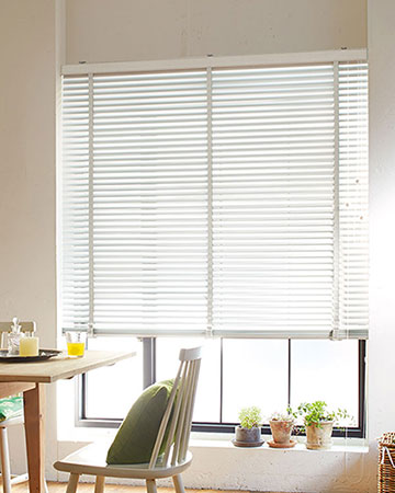 Old White Wooden Blinds with Tapes