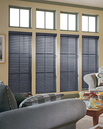 Smoke Grey Wooden Blinds